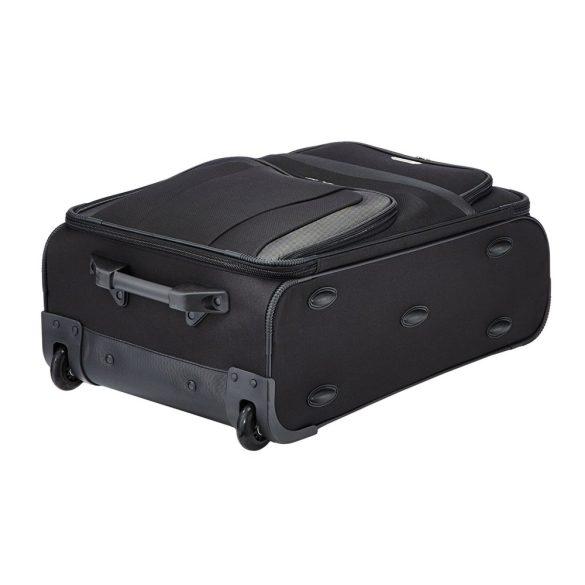 Bőrönd TRAVELITE Orlando M fekete 2 kerekű közepes méret
