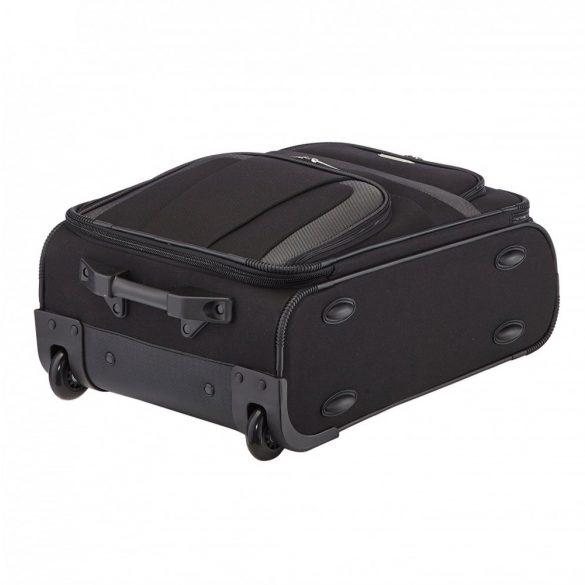 Bőrönd TRAVELITE Orlando S fekete 2 kerekű kabin méret