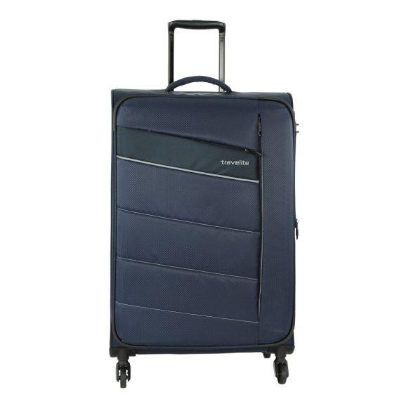 Bőrönd TRAVELITE Kite L kék 4 kerekű bővíthető nagy méret