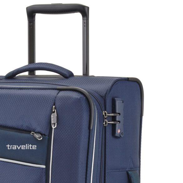 Travelite KITE S kék négykerekű kis kabin bőrönd