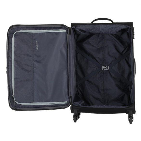 Bőrönd TRAVELITE Kite S fekete 4 kerekű kabin méret