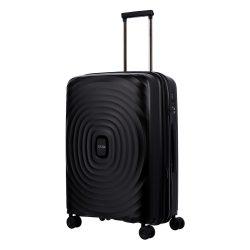 TITAN Looping M fekete 4 kerekű bővíthető közepes bőrönd