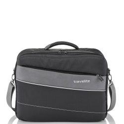 Travelite KITE fekete laptop tartós férfi kabintáska kézipoggyász 8172a1086c