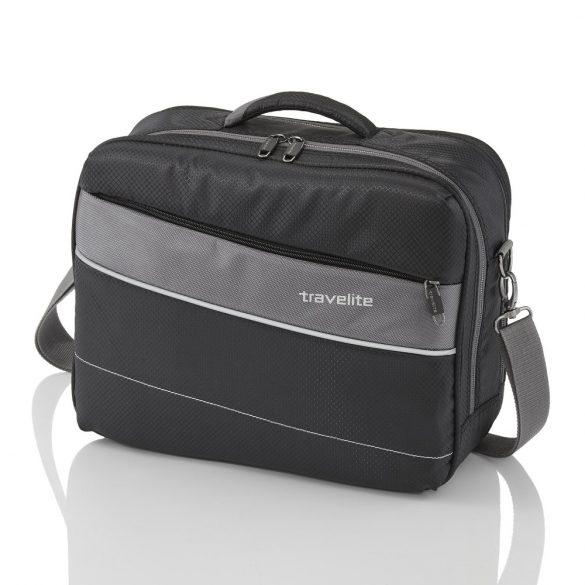 """Kabintáska TRAVELITE Kite fekete kézipoggyász méretű laptoptartós 15,6"""""""