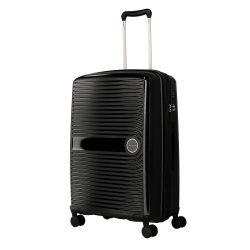 TRAVELITE Ceris M fekete 4 kerekű közepes bőrönd