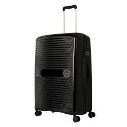 TRAVELITE Ceris L fekete 4 kerekű nagy bőrönd