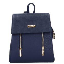 Hátizsák KAREN 9230 Bis Kék velúr rostbőr női