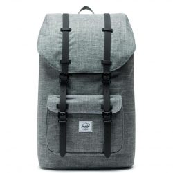 HERSCHEL Little America Raven Crosshatch laptoptartós hátizsák