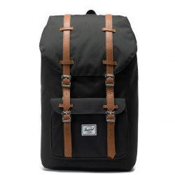 HERSCHEL Little America Black laptoptartós hátizsák