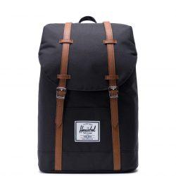 HERSCHEL Retreat Black laptoptartós hátizsák