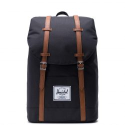 HERSCHEL Retreat Black laptoptartós hátizsák
