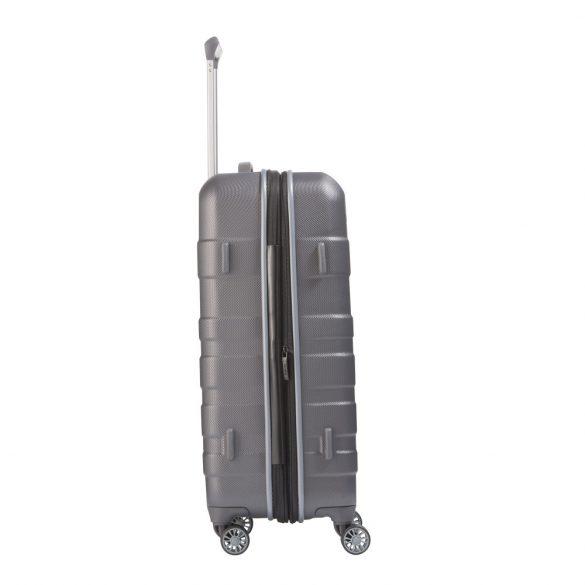 Bőrönd TRAVELITE Vector M antracit 4 kerekű bővíthető közepes