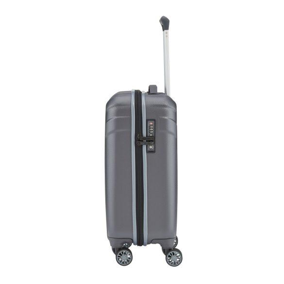 Bőrönd TRAVELITE Vector S antracit 4 kerekű könnyű kabin