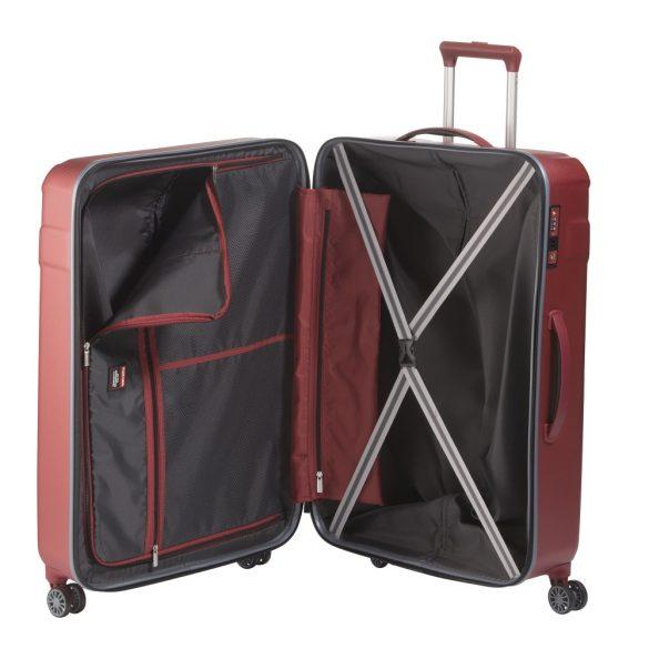 Bőrönd TRAVELITE Vector L korall 4 kerekű nagy méret
