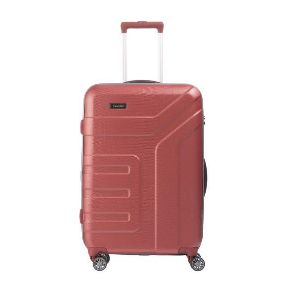 Bőrönd TRAVELITE Vector M korall 4 kerekű bővíthető közepes