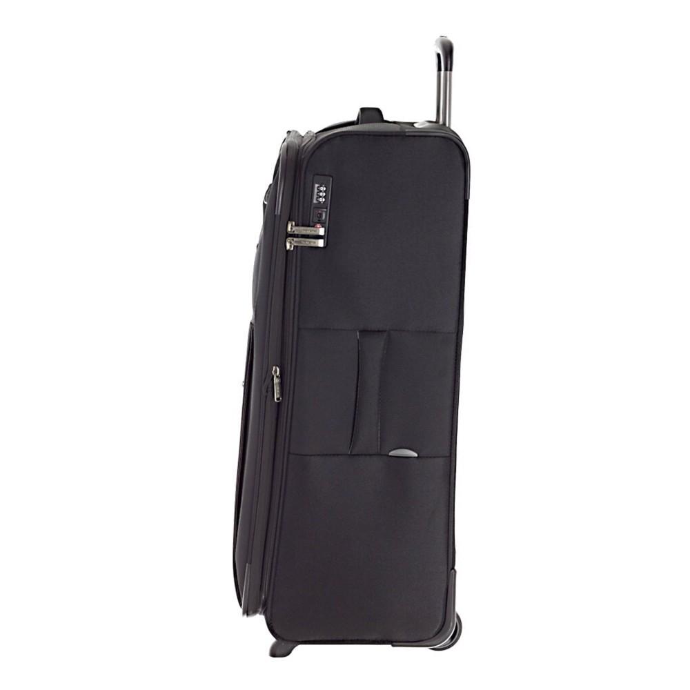 Travelite CAPRI L fekete kétkerekű bővíthető nagy bőrönd ... 12996f48d8