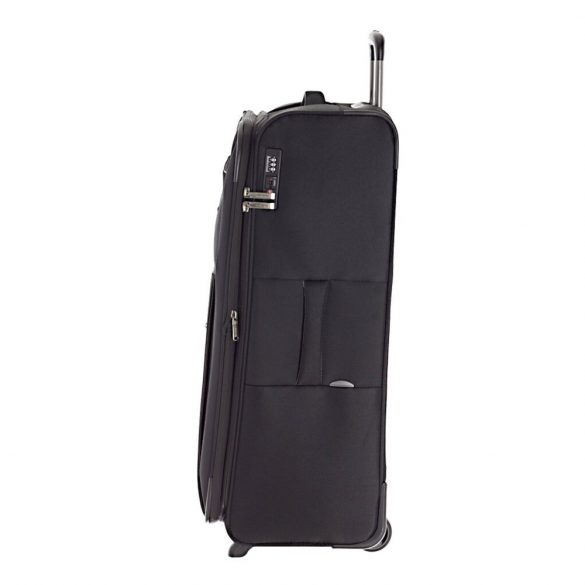 Travelite CAPRI L fekete 2 kerekű bővíthető nagy bőrönd