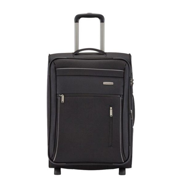 Travelite CAPRI M fekete 2 kerekű bővíthető közepes bőrönd