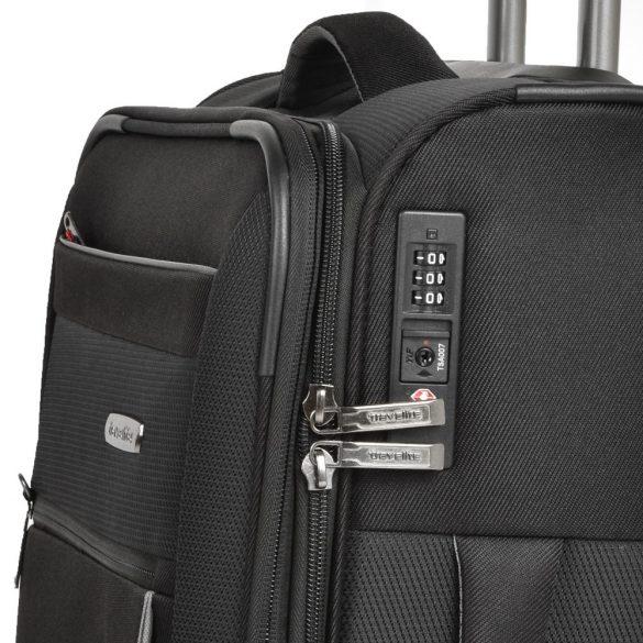 Bőrönd TRAVELITE Capri M fekete 2 kerekű bővíthető közepes méret