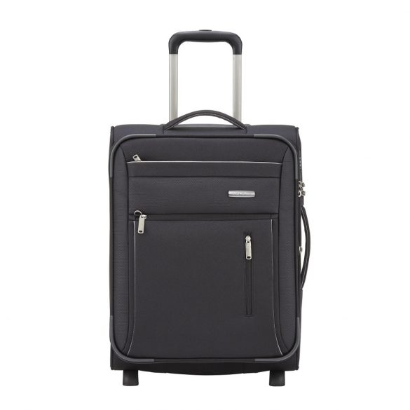 Bőrönd TRAVELITE Capri S fekete 2 kerekű bővíthető kabin méret