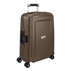 Samsonite S'cure DLX spinner (4 kerék) 55cm bronz kabin bőrönd