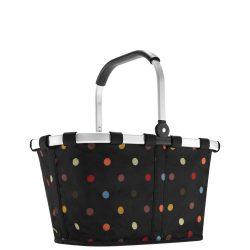 Reisenthel Carrybag fekete pöttyös női bevásárló kosár