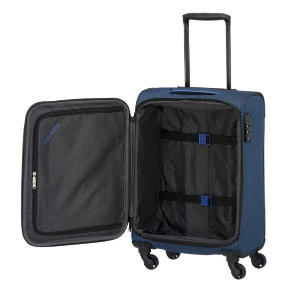 Bőrönd TRAVELITE Derby S kék 4 kerekű kis kabin méret