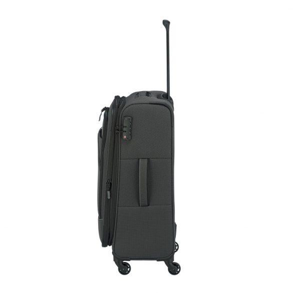 Bőrönd TRAVELITE Derby M antracit 4 kerekű bővíthető közepes méret