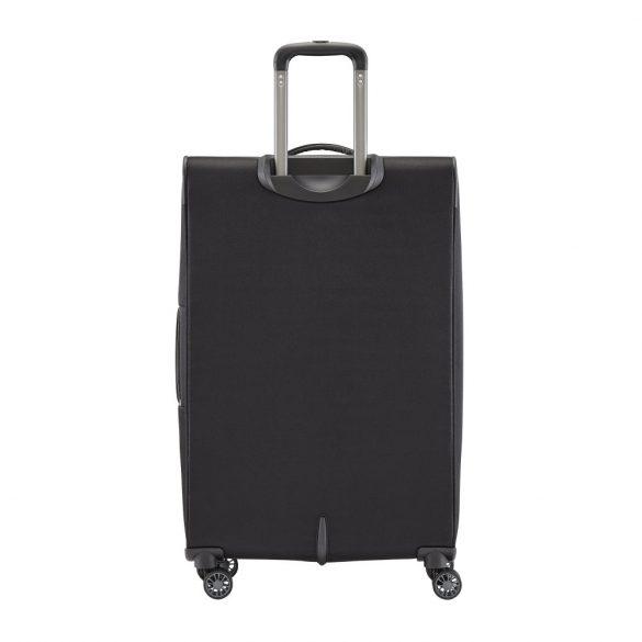 Travelite CAPRI L fekete 4 kerekű bővíthető nagy bőrönd