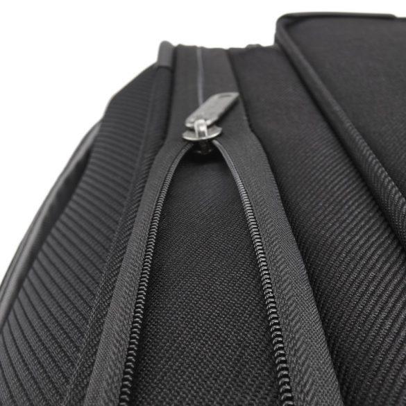 Bőrönd TRAVELITE Capri L fekete 4 kerekű bővíthető nagy méret