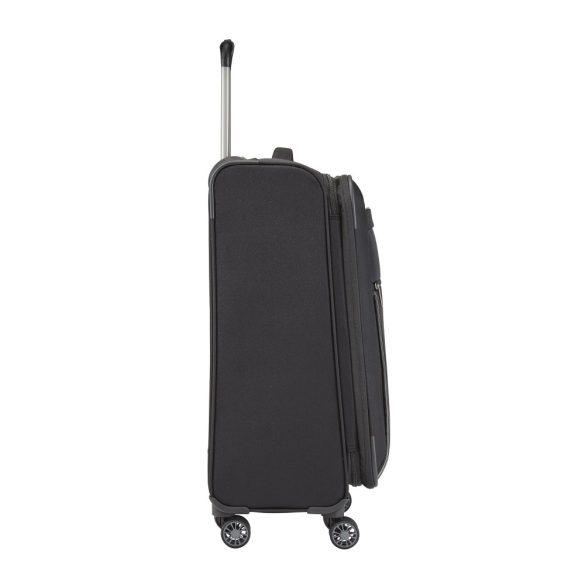 Bőrönd TRAVELITE Capri M fekete 4 kerekű bővíthető közepes méret