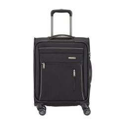 Travelite CAPRI S fekete 4 kerekű kis kabin bőrönd