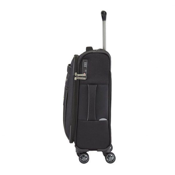 Bőrönd TRAVELITE Capri S fekete 4 kerekű kabin méret
