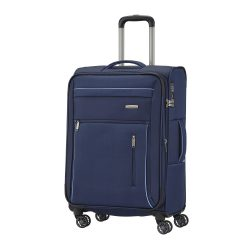 Travelite CAPRI M kék 4 kerekű bővíthető közepes bőrönd