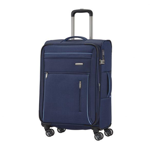 Bőrönd TRAVELITE Capri M kék 4 kerekű bővíthető közepes méret