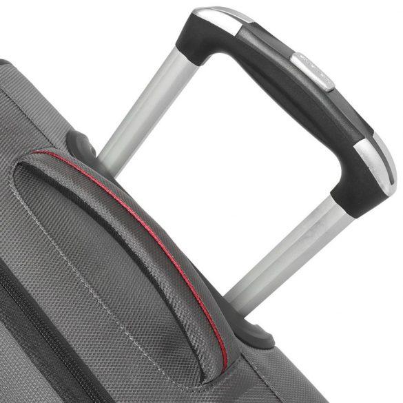 Travelite STREAM M fekete 4 kerekű bővíthető közepes bőrönd