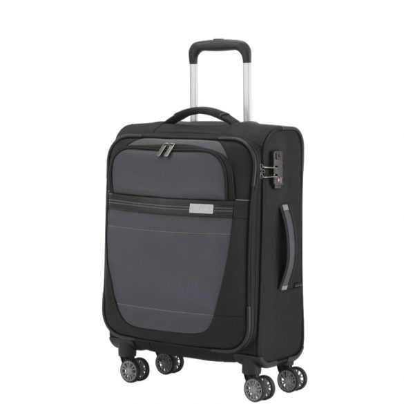 Bőrönd TRAVELITE Meteor S fekete 4 kerekű kabin méret