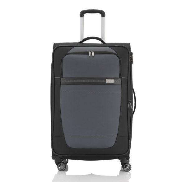 Bőrönd TRAVELITE Meteor L fekete-szürke 4 kerekű bővíthető nagy bőrönd
