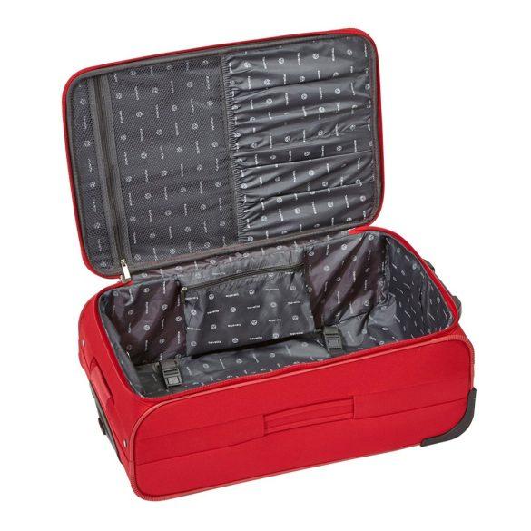 Bőrönd TRAVELITE Orlando M piros 2 kerekű közepes méret