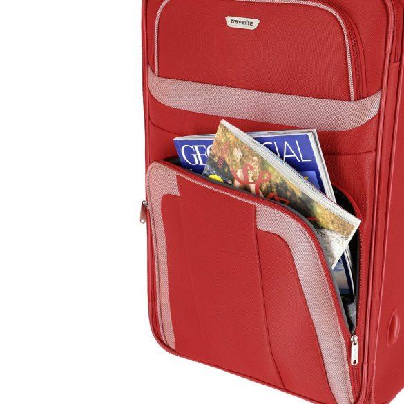 Travelite ORLANDO M piros 2 kerekű közepes bőrönd