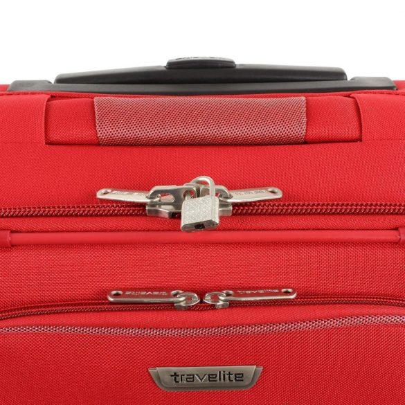 Bőrönd TRAVELITE Orlando S piros 2 kerekű kabin méret