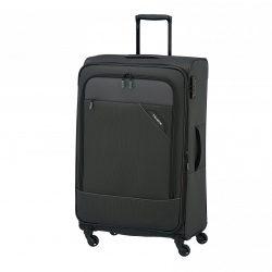 Bőrönd TRAVELITE Derby L Antracit 4 kerekű bővíthető nagy bőrönd
