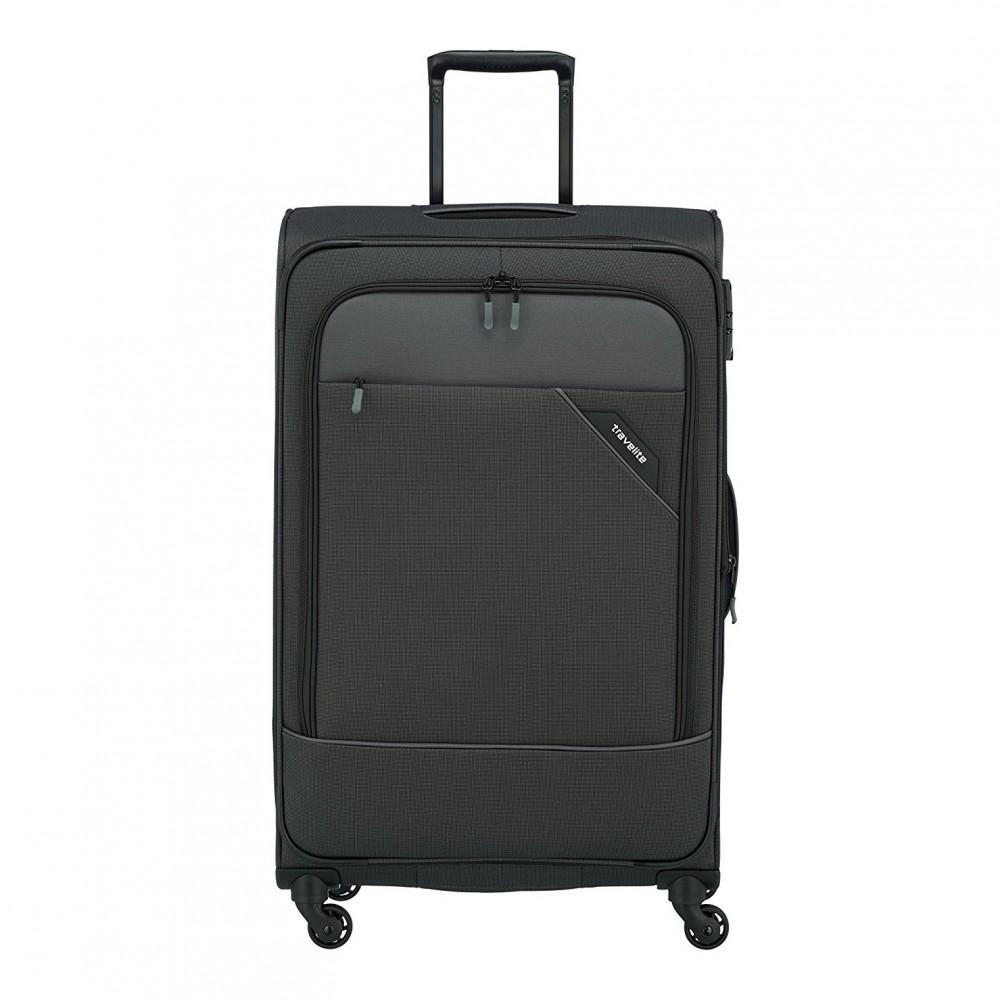 b7fc68433c71 Bőrönd TRAVELITE Derby L Antracit 4 kerekű bővíthető nagy bőrönd ...