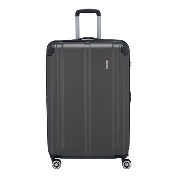 Bőrönd TRAVELITE City L antracit 4 kerekű bővíthető nagy méret