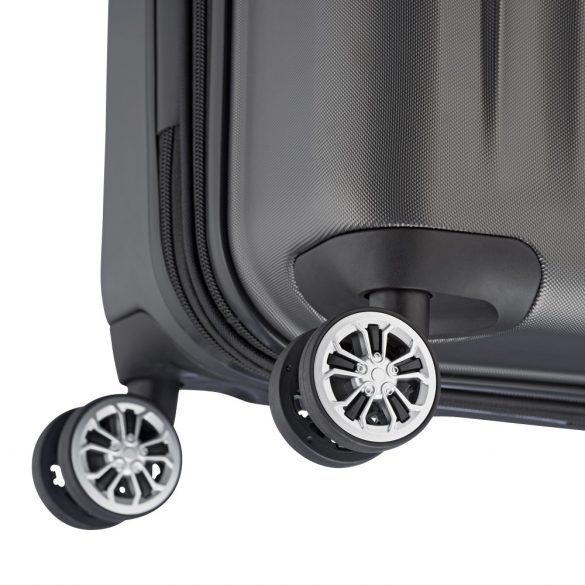 Bőrönd TRAVELITE City M antracit 4 kerekű bővíthető közepes méret