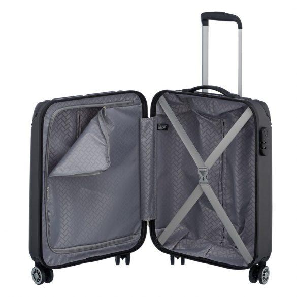 Bőrönd TRAVELITE City S antracit 4 kerekű kabin méret