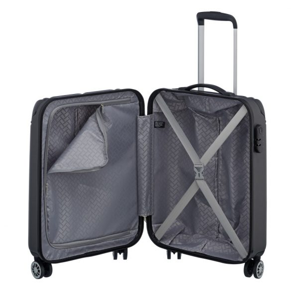 Bőrönd TRAVELITE City S antracit 4 kerekű kabin bőrönd