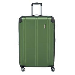Bőrönd TRAVELITE City L zöld 4 kerekű bővíthető nagy bőrönd