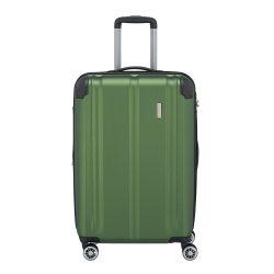 Travelite CITY M zöld 4 kerekű bővíthető karcálló közepes bőrönd