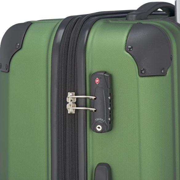 Bőrönd TRAVELITE City M zöld 4 kerekű bővíthető közepes méret
